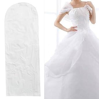 Tinxs Waterproof Wedding Dress Bridal Gown Garment Cover Storage Bag  Carrier Zip