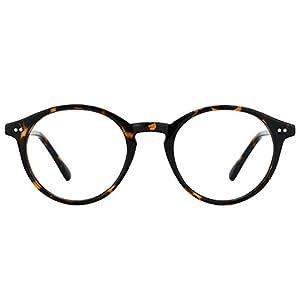 TIJN Vintage Women Thick Round Rim Non-prescription Glasses Eyeglasses Clear Lens