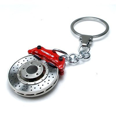 Porsche Red Racing Brake Disc Key Chain