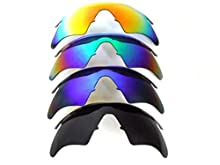 Galaxy Replacement Lenses For Oakley M Frame Sweep Black/Blue/Green//Red