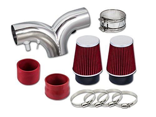 1994 1995 1996 Buick Roadmaster 4.3L 5.7L V8 Dual Short Ram Intake Red SR-CH8red by High performance parts