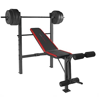 CAP Strength Standard Bench with 100 lb Weight Set
