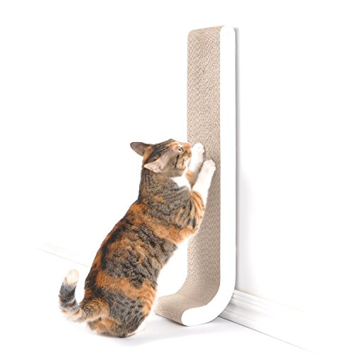 4CLAWS-Wall-Mounted-Scratching-Post-26-White-BASICS-Collection-Cat-Scratcher