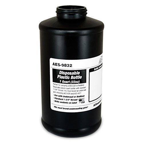 aes-industries-9832-undercoating-bedliner-rustproofing-disposable-empty-plastic-schutz-bottle-1-quar