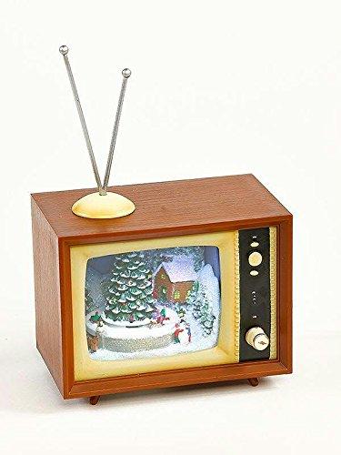 Christmas TV - Fernseher mit LEDs & Sound - 12cmx15cmx9cm - Batteriebetrieben - Weihnachtsdeko