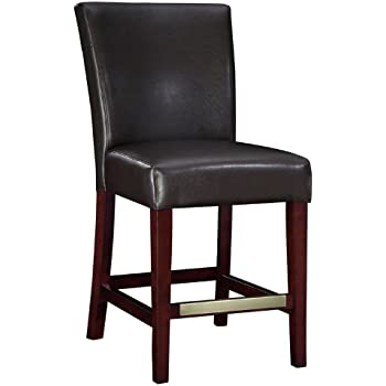 Powell Brown Bonded Leather Counter Stool 24-Inch Seat Height  sc 1 st  Amazon.com & Amazon.com: Powell Brown Bonded Leather Counter Stool 24-Inch ... islam-shia.org