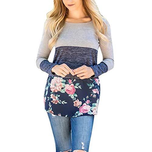 [S-XL] レディース Tシャツ 花柄 ステッチング 長袖 トップス おしゃれ ゆったり カジュアル 人気 高品質 快適 薄手 ホット製品 通勤 通学