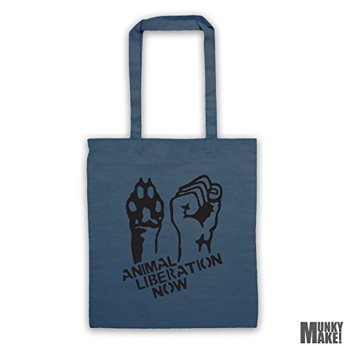 colours Petrol different tote bag ANIMAL LIBERATION NOW qxT7wPaX