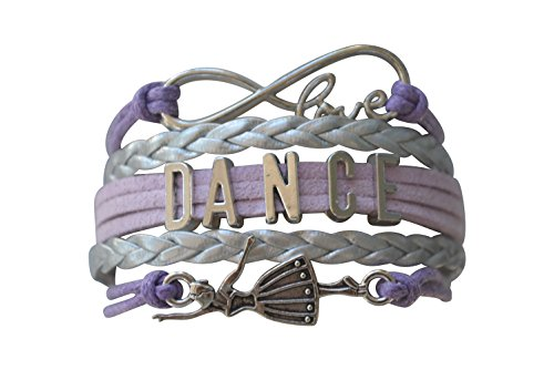 Dance Bracelet- Dance Jewelry - Purple Infinity Charm Bracelet for Dance Recitals