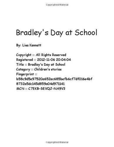 Bradley's Day at School pdf