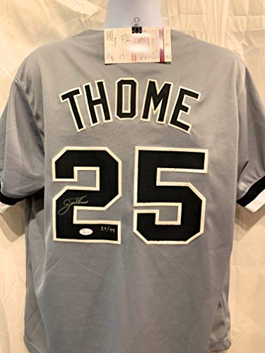 (Jim Thome Chicago White Sox Signed Autograph Custom Jersey CHI TOWN Limited Edition JSA Certified)