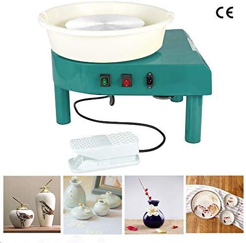 HUKOER 350W Töpferscheibe Töpfern Nähmaschine DIY Clay Tool für Keramik Clay Art Craft (Green)