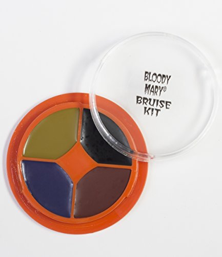Special Effects Bruise Makeup Kit By Bloody Mary - Theatrical & Halloween Bruising Palette - SFX Fake Bruise Wheel For Fresh, Black, Blue, Old & Healing Bruises - Non Toxic]()