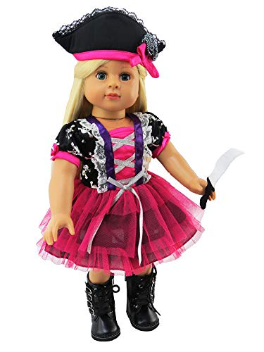 Pink Tutu Pirate Halloween Costume| 18 Inch American Girl Doll Clothes]()