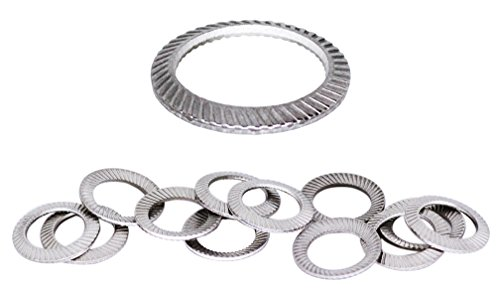 (50pcs) M10 Stainless SCHNORR Brand Ribbed Safety Spring Lock Washer Metric, BelMetric WSH10SS-X by SCHNORR (Image #4)