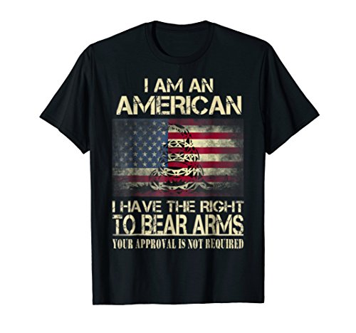 American - I have the right to bear arms t-shirt - Flag Amer ()