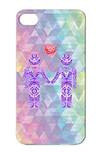 TPU Gay Lesbian Law Love Wedding Pride Men Man Heart Marriage Love Gay Homosexual Protective Hard Case For Iphone 4/4s Navy MEN WITH HEART