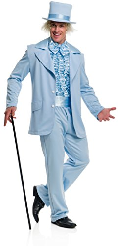 Charades Men's Funny Tuxedo, Blue, (Tuxedos From Dumb And Dumber)