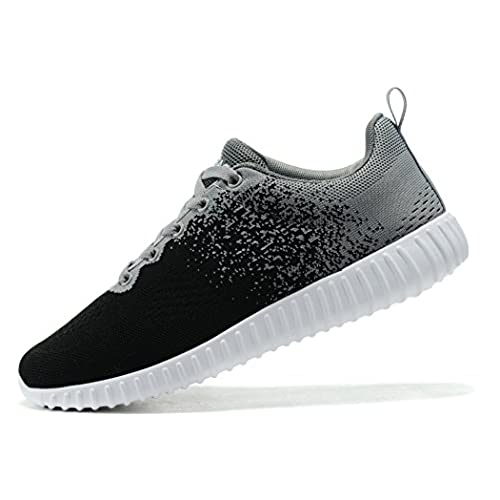 ea1ba62be3380 KESUBAO Men s Knit Breathable Casual Sneakers Lightweight Athletic Tennis  Walking Outdoor Sports Running Shoes