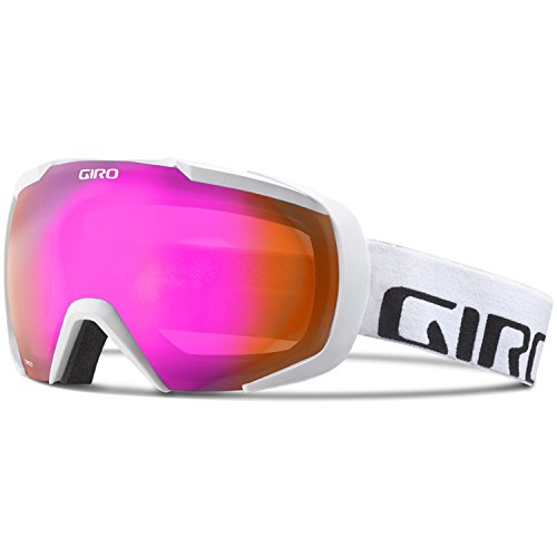 Giro Onset Goggle - White Wordmark Frame with Amber Pink Lens by Giro