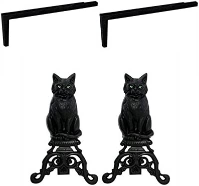 Black Black Cat Andirons Free Shipping pair