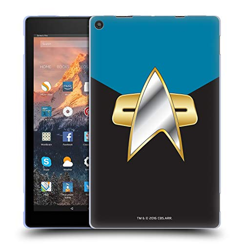 Official Star Trek Sciences Uniforms and Badges DS9 Soft Gel Case for Amazon Fire HD 10 (2017) ()