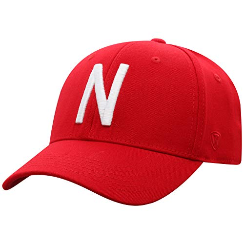 Top of the World Nebraska Cornhuskers Men's Memory Fit Hat Icon, Red, One Fit