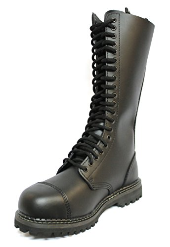 Ladies Black Leather Cap Steel Grinders Hole Toe Boots CS Safety Mens King 20 6w4qfYC