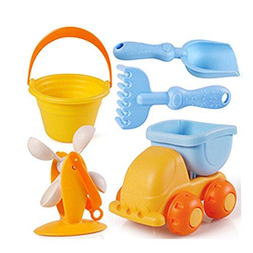 Kids 5 Pcs Sandbox Windmill Bucket Shovel Sand Car (Color (Disney Doc Mcstuffins Favor Bucket)