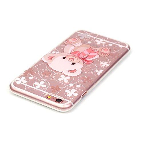 """iPhone 6 / 6S Schutzhülle , LH Transparent klein Bär TPU Weich Muschel Tasche Schutzhülle Silikon Hülle Schale Cover Case Gehäuse für Apple iPhone 6 / 6S 4.7"""""""