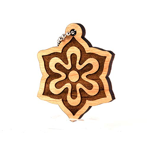 Natural Wood Kyoto (Sunset Design Lab Kyoto Prefecture Japan Nippon Wood Laser Cut Keychain Charm Ornament)