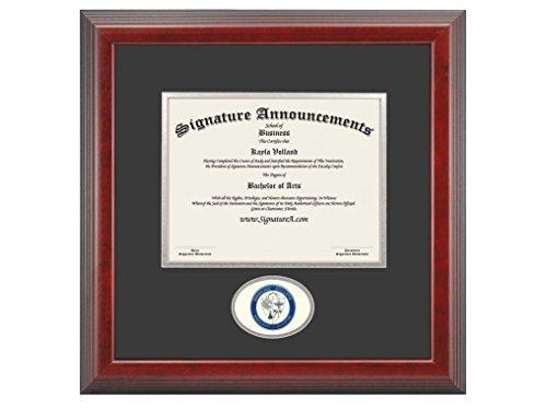 "Signature Announcements Highline-College Undergraduate, Graduate Sculpted Foil Seal Diploma Frame, 16"" x 16"", Cherry"