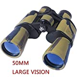 AUGYMER 50mm Hunting Binoculars for Adults, HD BAK4 Binoculars for Hunting Bird Watching Wide Angle Fog-Proof Large Eyepiece High Power Binocular for Hunting Camping (50mm)