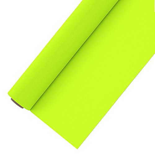 Heat Transfer Vinyl Roll 12 Inches by 5 Feet Easy to Weed Neon Colored HTV Vinyl for T-Shirts (Fluorescent Yellow)