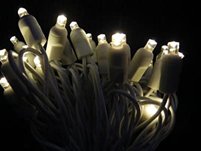 5mm lights Warm White with white wire - white wire wedding lights -Christmas lights