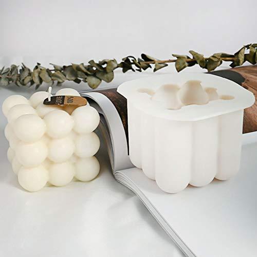 Moldes de silicona para velas de soja 3D  8x 8x 6 cm
