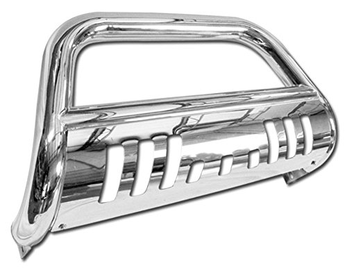 Stainless Steel Front Bumper Bull Bar Guard (Chrome) For 1999-2007 Ford F250 / F350 / F450 / F550 Superduty Models ( Will Not Fit Harley Davidson Edition Models ); 2000-2005 Ford Excursion All Models