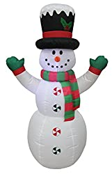 4 Foot Tall Lighted Christmas Inflatable Snowman with Hat...