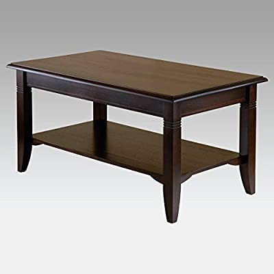Cappuccino Nolan Accent Tables with Lower Shelf