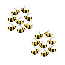 Bees Cakes Decorations #45148 - Bumble Bee Shaped Edible Hard Sugar Decoratio...