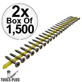 Quik Drive CB3BLG114S 1500pk 1-1/4'' x #10 Fiber Cement Backerboard Screws 2x 2-Pack