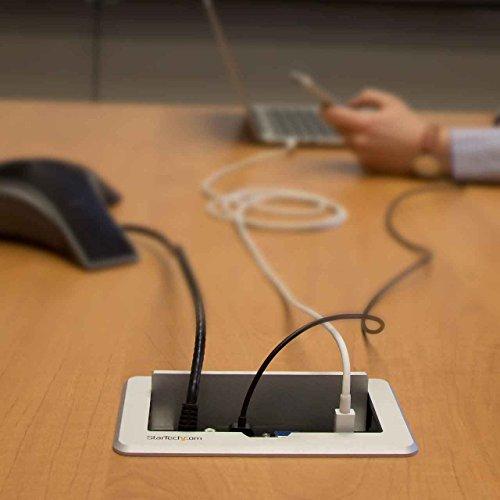 StarTechcom BOXHDECP Conference Table Connectivity Box HDMIVGA - Conference table data ports hdmi