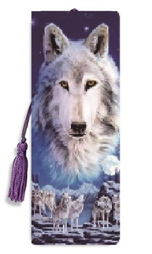 3D Bookmarks with tassel- Wolves Amazing 3D Art, Cool Bookmarks for kids, bookmarks for men, and bookmarks for women, great bookmarks for books, magazines, textbooks, journals, and more
