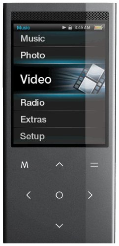 Coby 8 GB 2.4-Inch Touchpad Video MP3 Player with FM, Stereo Speaker and Camera (Black) (Discontinued by manufacturer) (Coby Touchpad compare prices)