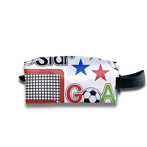 Football Soccer Digital Clipart Paper Portable Pencil Bag Coin Purse Pouch Stationery Storage Organizer Case Cosmetic Makeup Brush Holder with Durable Zipper for Students Office
