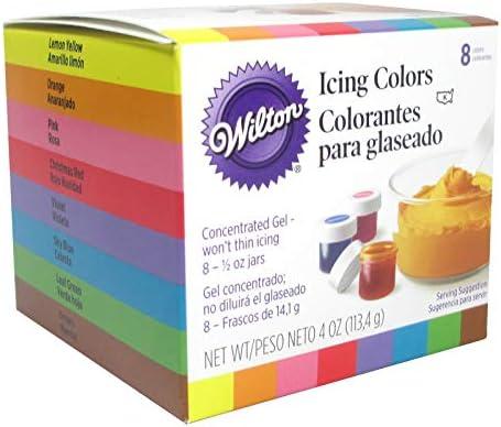 طقم ألوان طعام 8 لون من شركة ويلتون اشتري اون لاين بأفضل