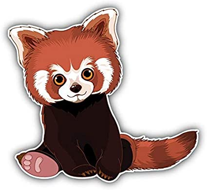"""Panda Decal 5/""""x5/"""" 6 Colors available"""