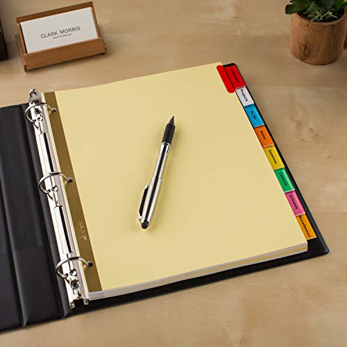Avery 8-Tab Binder Dividers, Insertable Multicolor Big