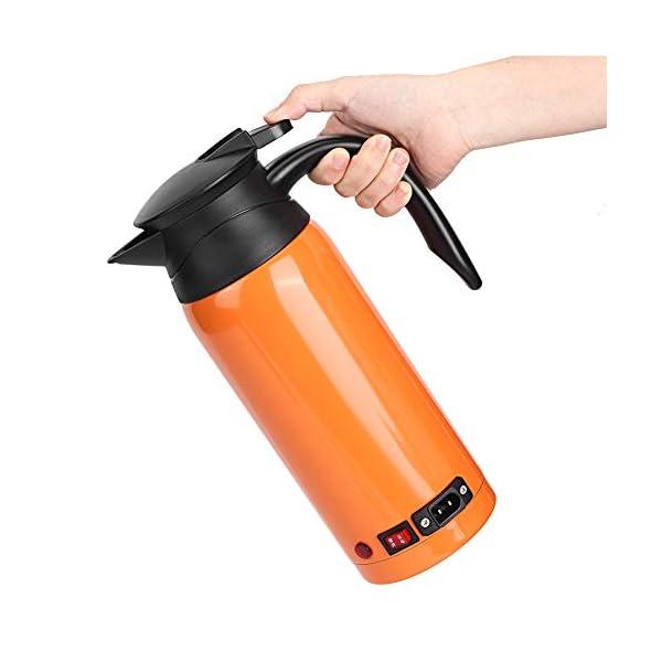 41tKdWhsiuL Tbest Auto Kessel Heizungs Schale, 800ml Edelstahl auto elektrischer erhitzter Wasserkocher Flaschen Schale Tragbarer…