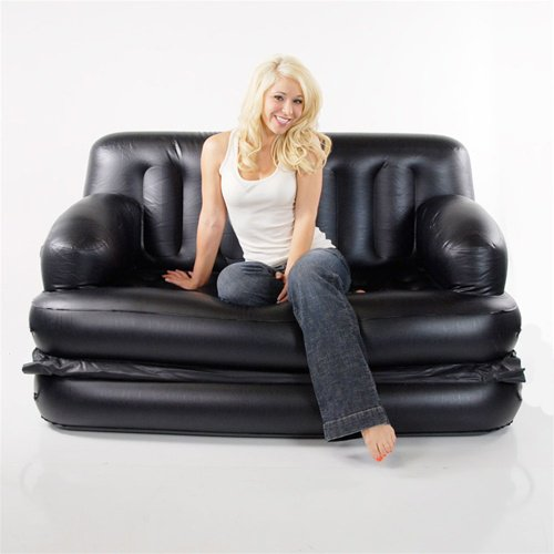 Inflatable Sofa Review: Smart Air Beds Full Sized 5 X 1 Inflatable Sofa Bed, Black